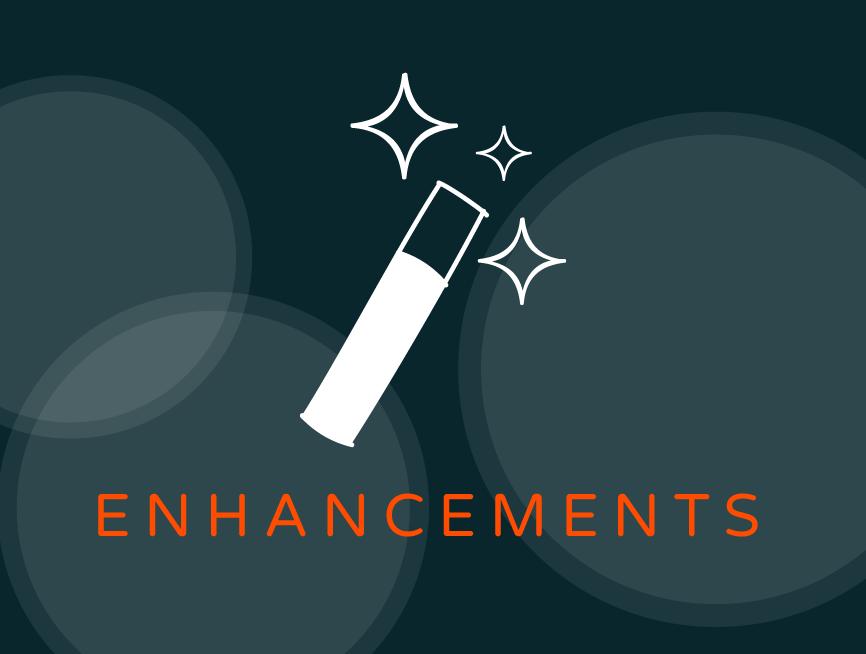 may 2018 enhancements
