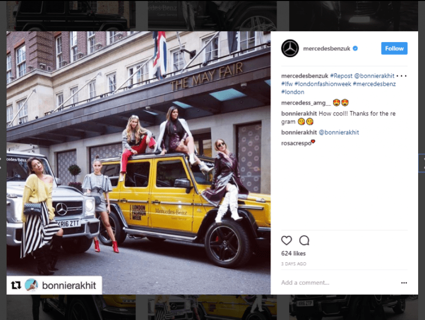 London Fashion Week social media marketing inspiration