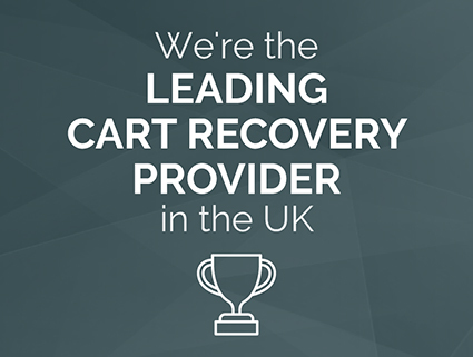 We're the Leading cart Recovery Provider in the UK