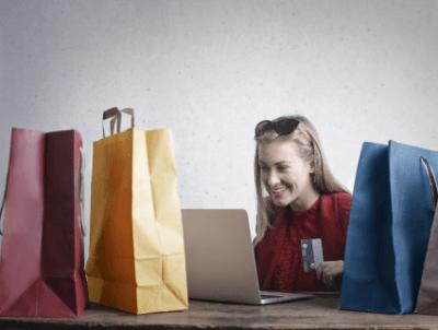 Woman shopping online