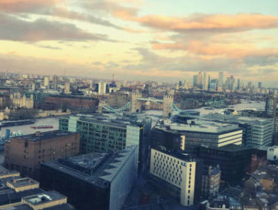 View from Fresh Relevance digital marketing event at The Shard