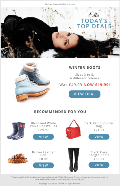 Product Recommendations in Email