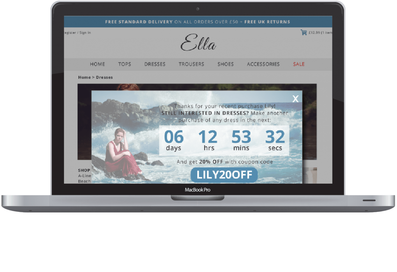 Screenshot of Ella Website