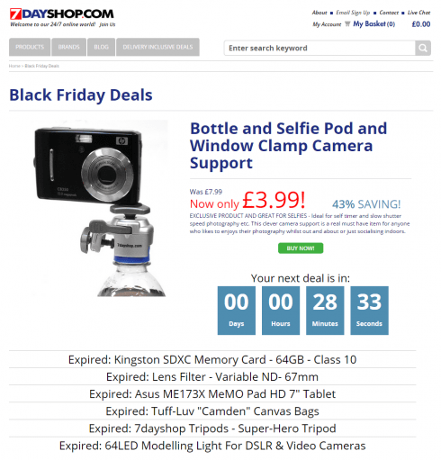 7DayShop wins black friday using dynamic content and daily deals