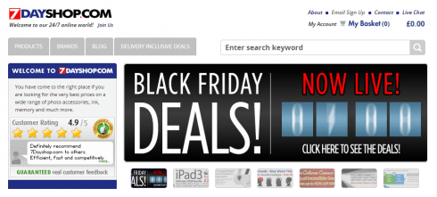 7Dayshop website black friday hourly deals