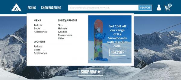 Fresh Relevance Personalized Coupon in Navigation