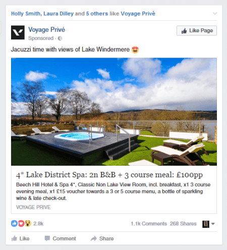 Facebook social proof integration