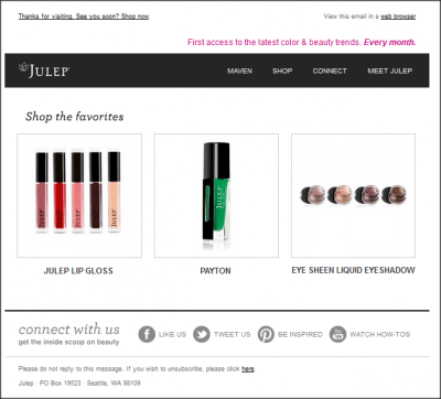 beauty browse abandonment recommendation