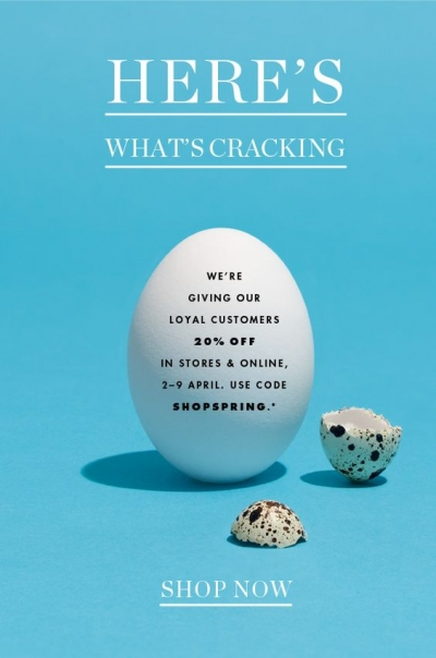 Rewarding loyal customers Easter email