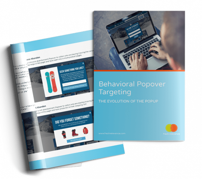 behavioral popover targeting eBook front page graphic