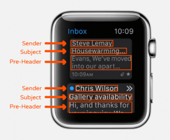apple watch emails