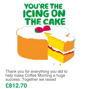 Macmillan Coffee Morning amount raised by Fresh Relevance Grant Thornton Southampton Science Park