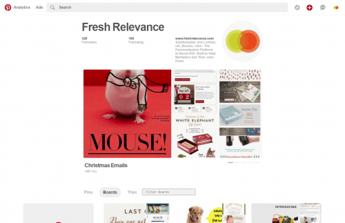 Fresh Relevance Pinterest Page