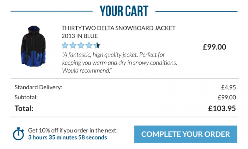browse and cart abandonment email using lead product with high rating and review