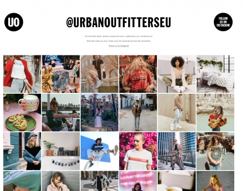 urban outfitters social media marketing social proof instagram