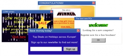 Bad examples of popups