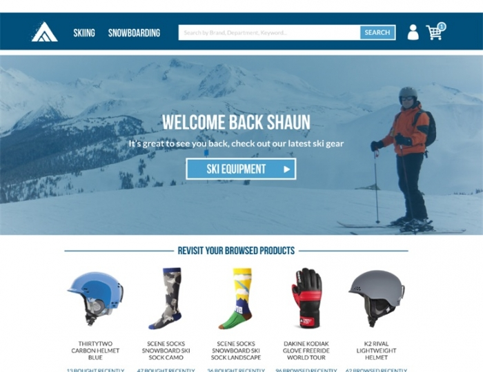 Personalize homepage banners based on customer preferences
