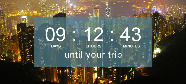 Countdown Timer to holiday
