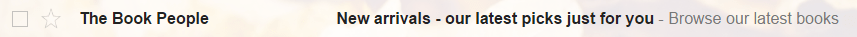 email subject line with accurate description