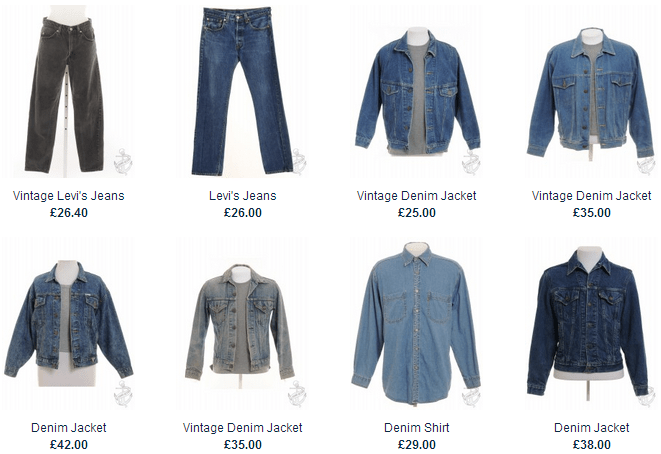 denim fashion product recommendations