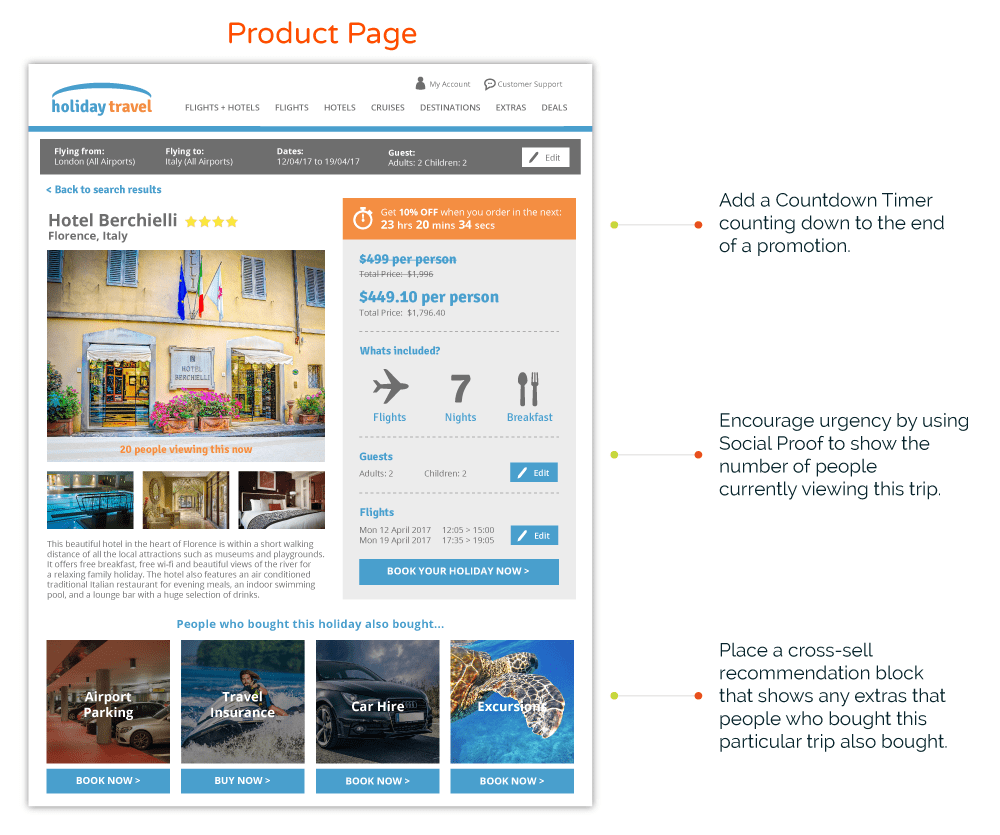 Travel Product Page Personalization and Customization