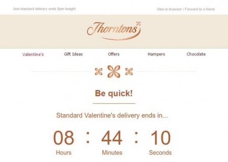 Thorntons Valentine's Email