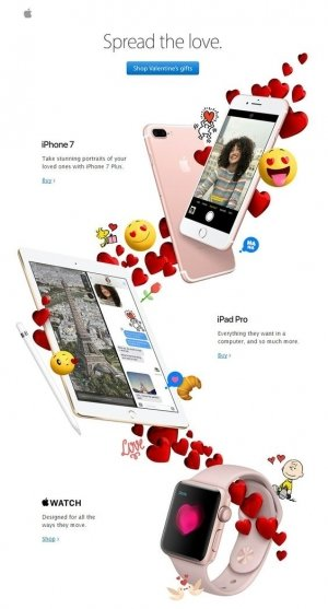 Apple Valentines Email