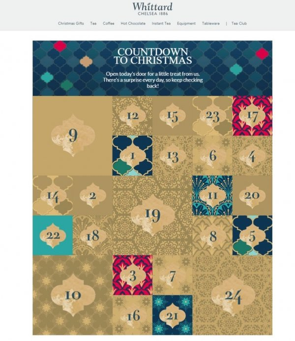 whittard advent calendar digital marketing daily deals