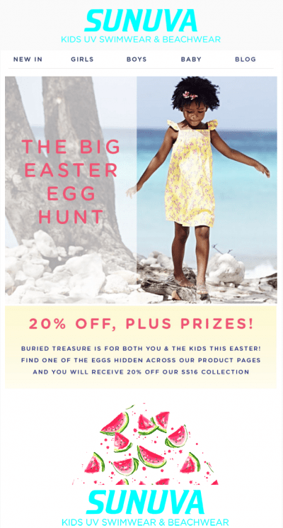 Easter email marketing experiential campaign idea