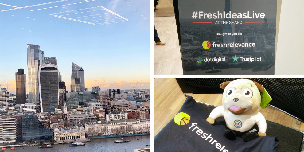 Fresh Relevance partnered with dotdigital and Trustpilot for Fresh Ideas Live at The Shard