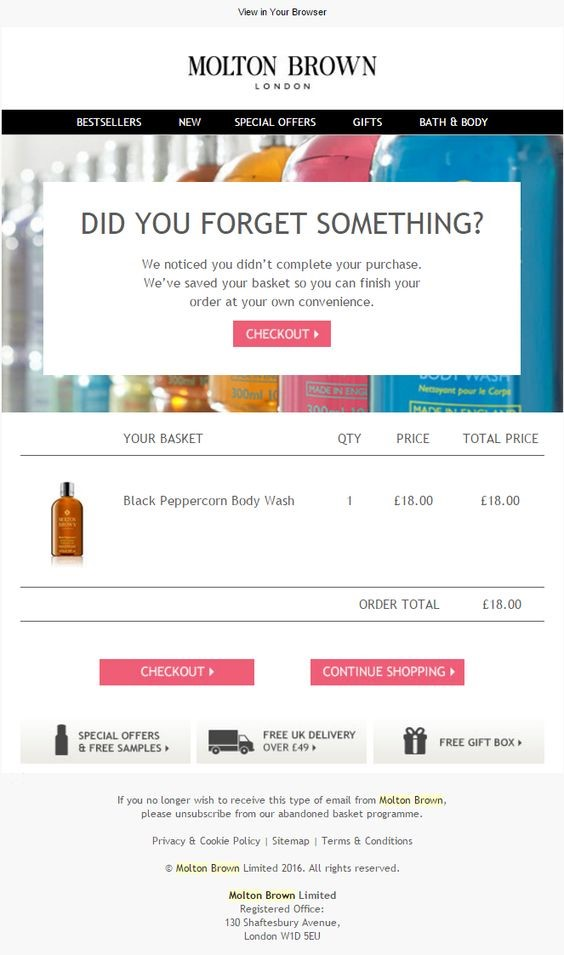 abandoned cart emails examples, allbeauty, abandonment emails