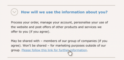 privacy notice example gdpr marketing personalization best practices