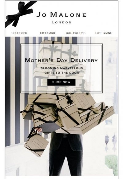 Jo Malone next day delivery offer for Mother's Day